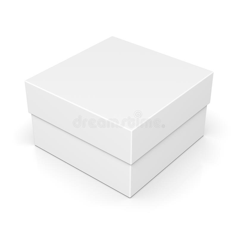 在白色的闭合的纸方形框 库存例证