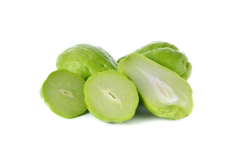 Download 在白色的整体和半裁减新鲜的佛手瓜 库存照片. 图片 包括有 热带, 宏指令, 绿色, 健康, 蔬菜, 剪切 - 62528600