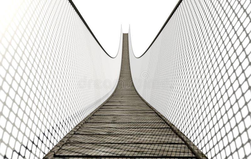 在白色的索桥 库存例证