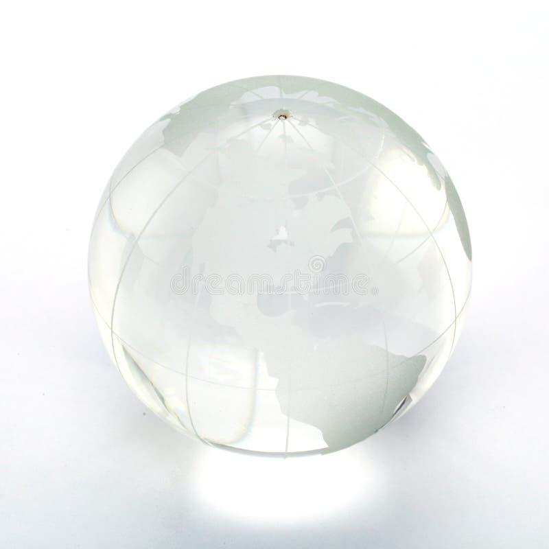 在白色的玻璃地球 免版税库存照片