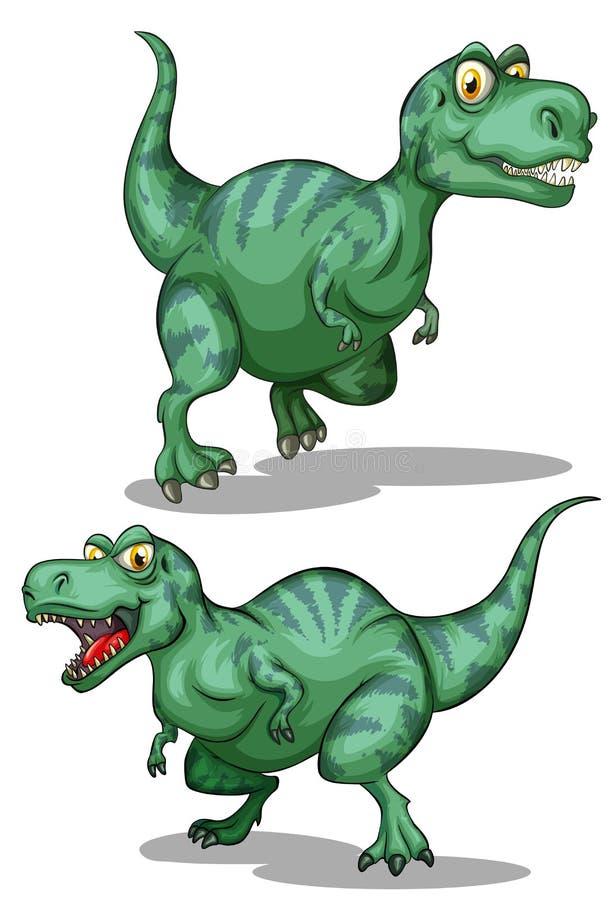 在白色的绿色恐龙 皇族释放例证