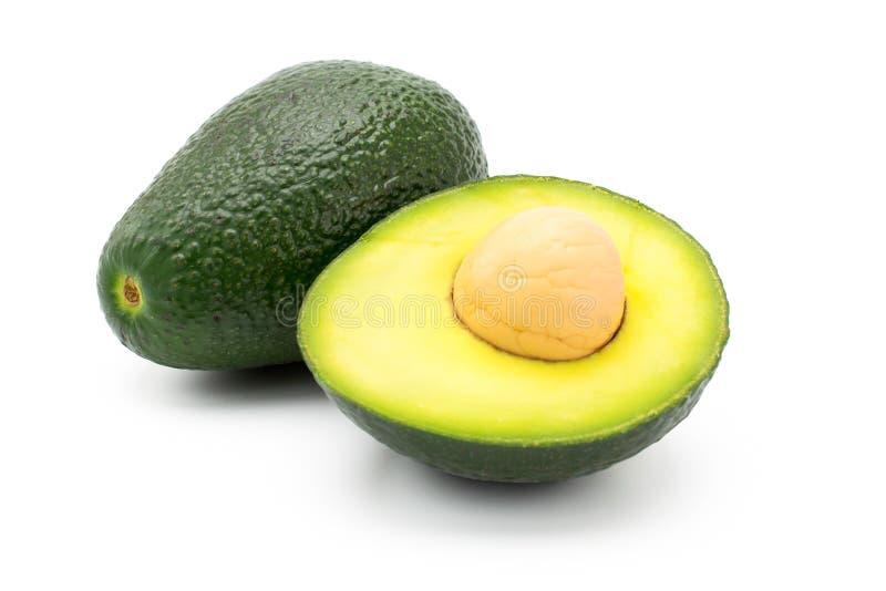 在白色的绿色芒果 库存图片