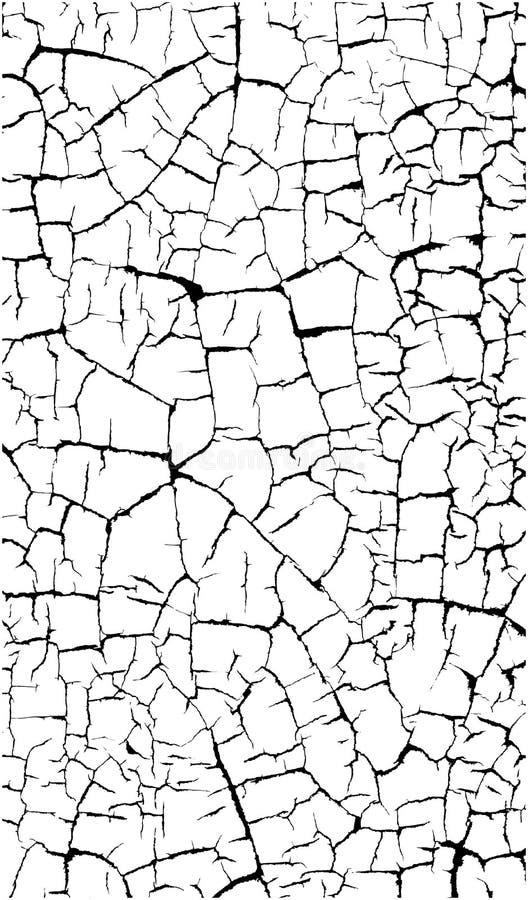 在白色的破裂的油漆样式 库存例证