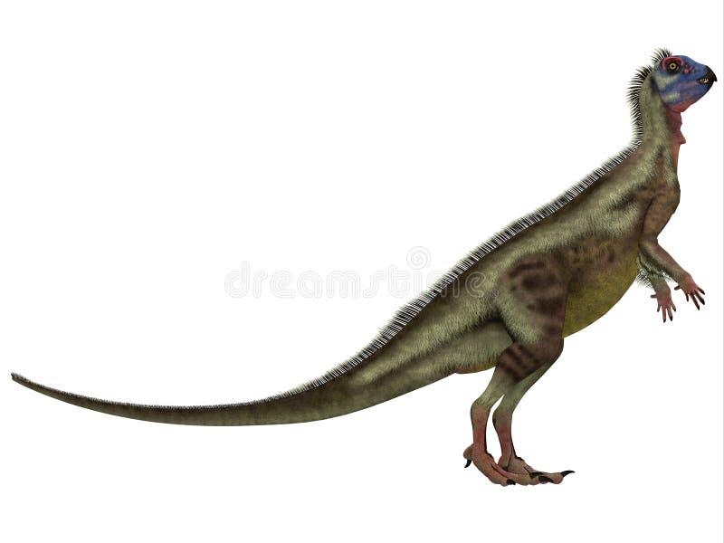 在白色的Hypsilophodon 皇族释放例证