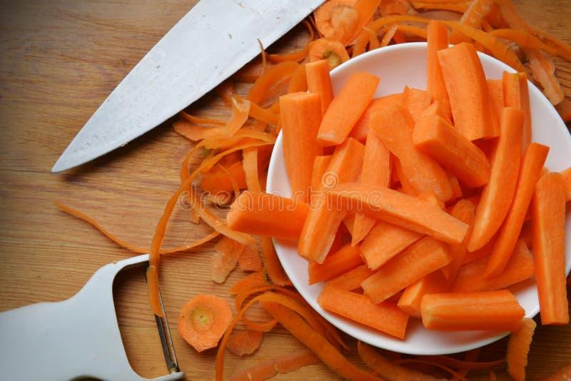 新鲜红萝卜 库存图片