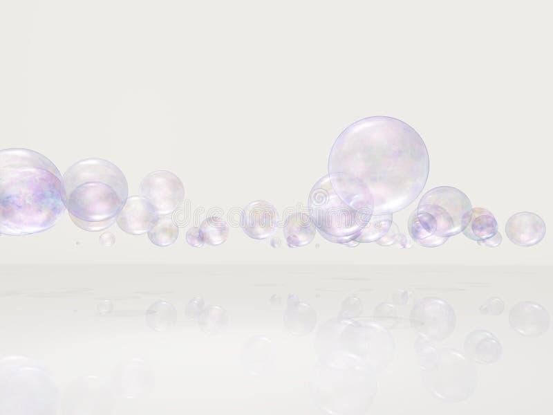 在白色空间的泡影 皇族释放例证