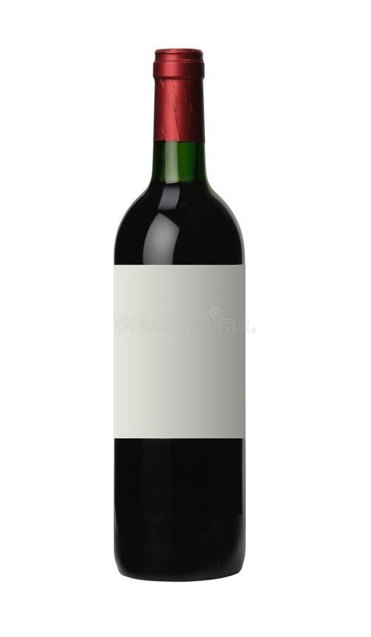 在白色红葡萄酒隔绝的瓶 库存图片