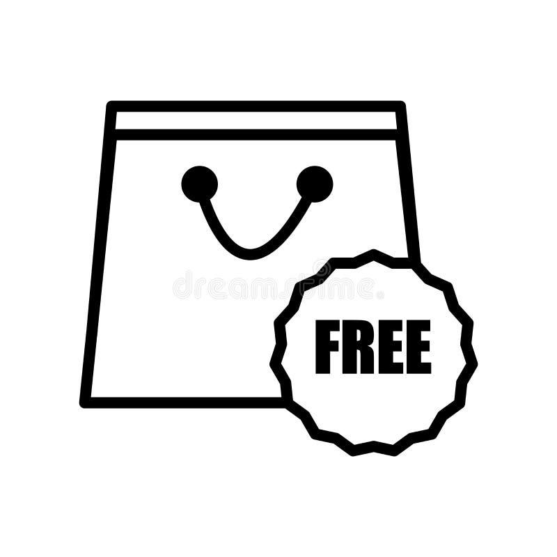 在白色背景、自由标志、线或者线性标志隔绝的自由象传染媒介,在概述样式的元素设计 向量例证