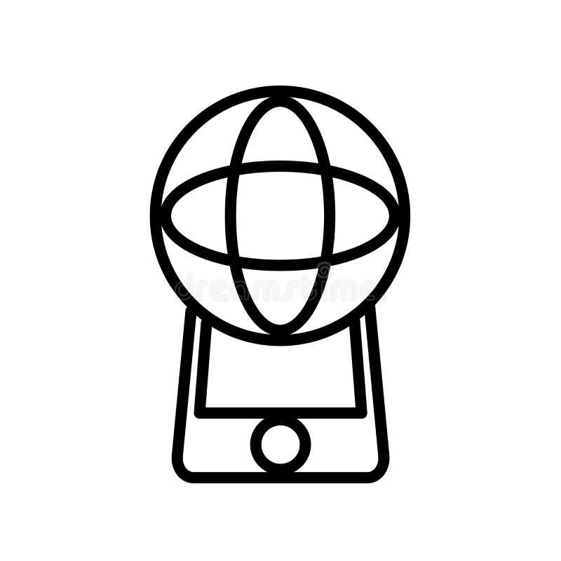 在白色背景、被增添的现实标志、线或者线性标志隔绝的被增添的现实象传染媒介,元素设计  皇族释放例证