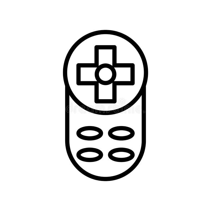 在白色背景、遥控标志、线或者线性标志隔绝的遥控象传染媒介,在概述的元素设计 皇族释放例证
