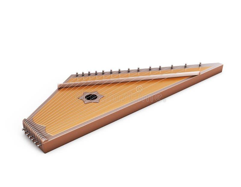在白色背景下的古代弦乐器 皇族释放例证