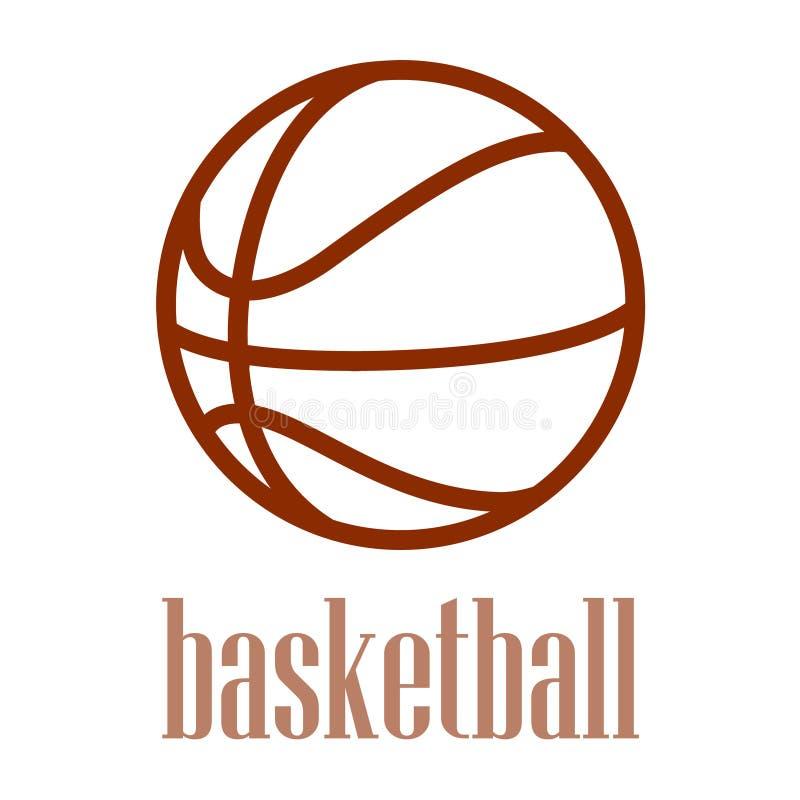 在白色背景中隔绝的篮球概述的例证。 皇族释放例证