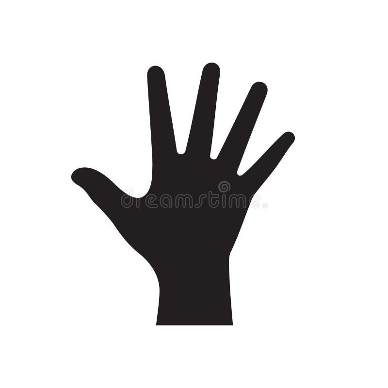 在白色背景传染媒介例证的人的手黑象网站的,流动应用,介绍,infographic 向量例证