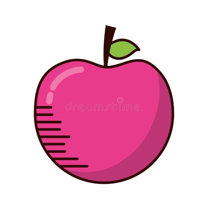 苹果计算机新鲜水果 皇族释放例证