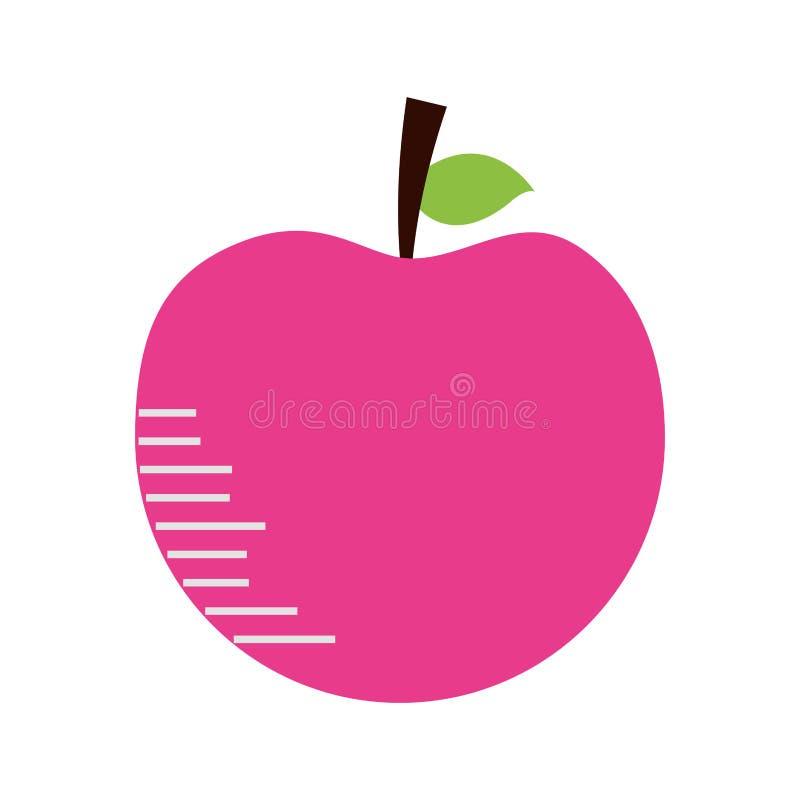 苹果计算机新鲜水果 库存例证