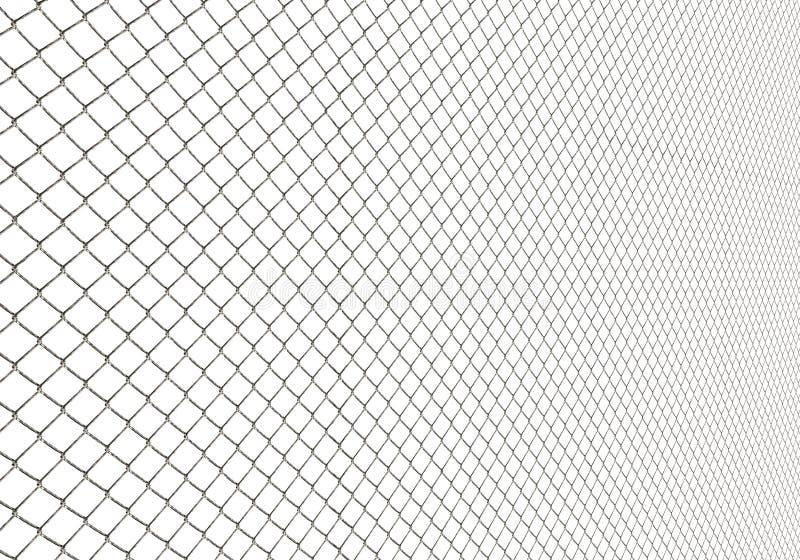 在白色背景例证的金属线篱芭 皇族释放例证