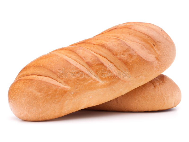 在白色背景保险开关隔绝的新鲜面包 图库摄影