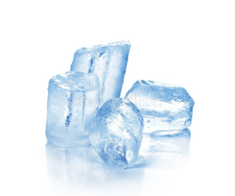 在白色背景冰 免版税库存照片