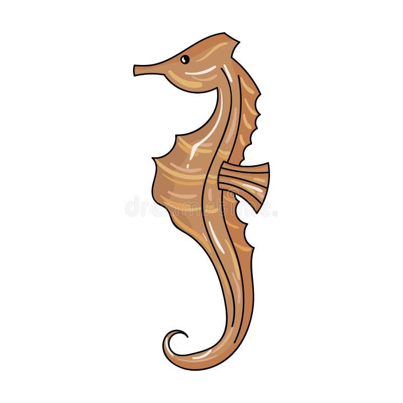 在白色背景在动画片样式的海象象隔绝的 海洋动物标志股票传染媒介例证 库存例证
