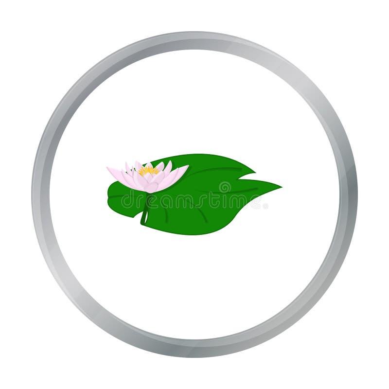 在白色背景在动画片样式的莲花象隔绝的 印度标志股票传染媒介例证 皇族释放例证