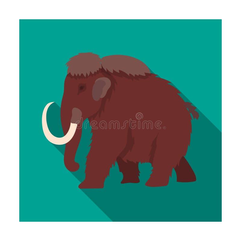 在白色背景在平的样式的声势浩大的象隔绝的 恐龙和史前标志 向量例证