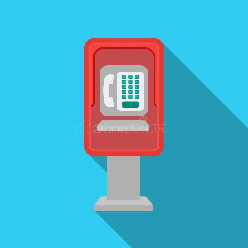 在白色背景在平的样式的投币式公用电话象隔绝的 公园标志股票传染媒介例证 皇族释放例证