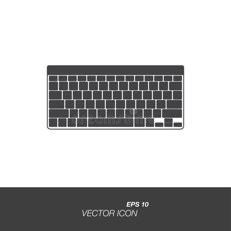 在白色背景在平的样式的键盘象隔绝的 库存例证