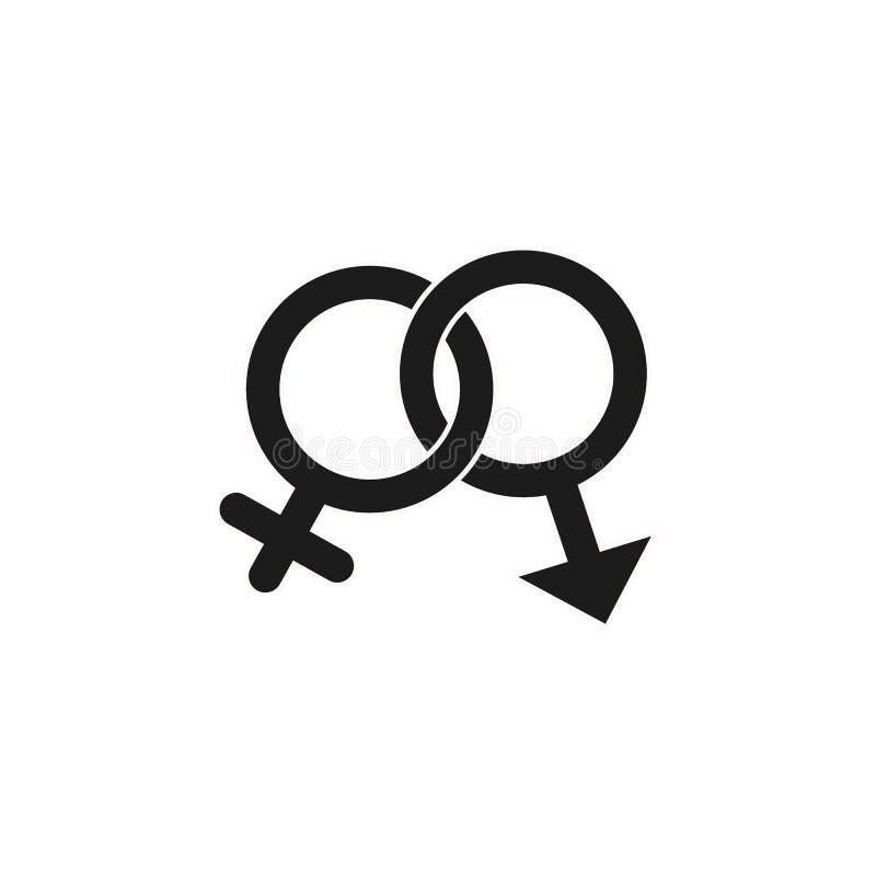 在白色背景在时髦平的样式的性别象隔绝的 您的网站设计的奖标志,商标, app, UI 库存例证