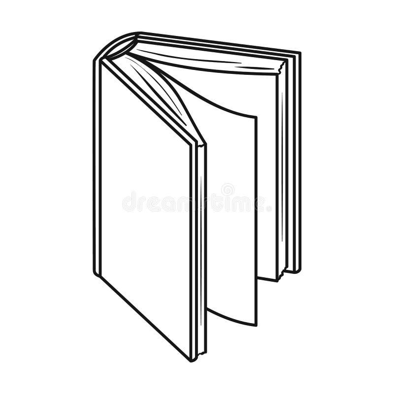 在白色背景在概述样式的黑常设书象隔绝的 预定标志储蓄传染媒介例证 皇族释放例证