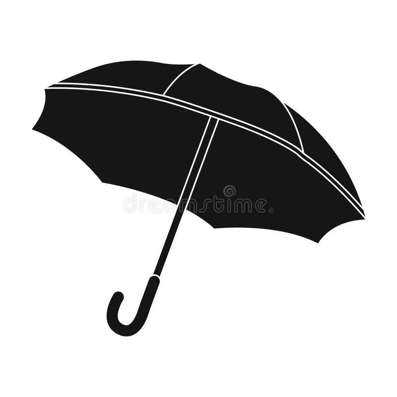 在白色背景在黑样式的伞象隔绝的 法国国家标志股票传染媒介例证 向量例证