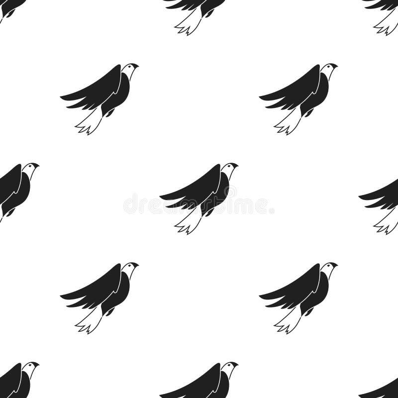 在白色背景在黑样式的美国老鹰象隔绝的 爱国者天样式 库存例证