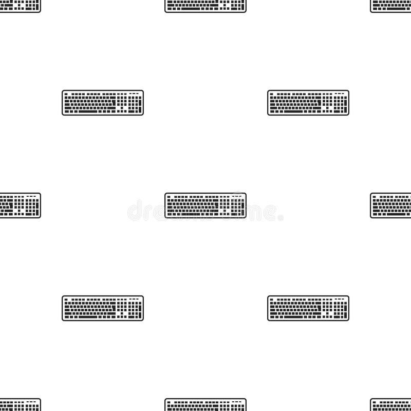 在白色背景在黑样式的键盘象隔绝的 个人计算机的样式股票传染媒介例证 向量例证