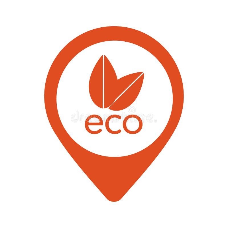 在白色背景在eps 10的自然eco橙色尖传染媒介象隔绝的 向量例证