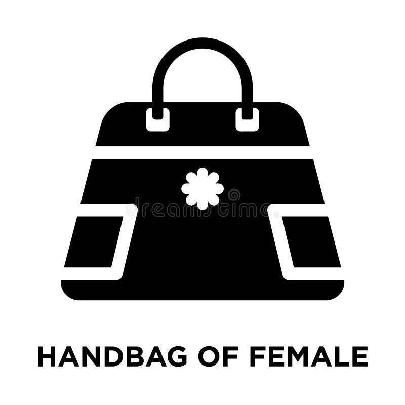 在白色背景女性iconÂ传染媒介隔绝的提包, lo 皇族释放例证