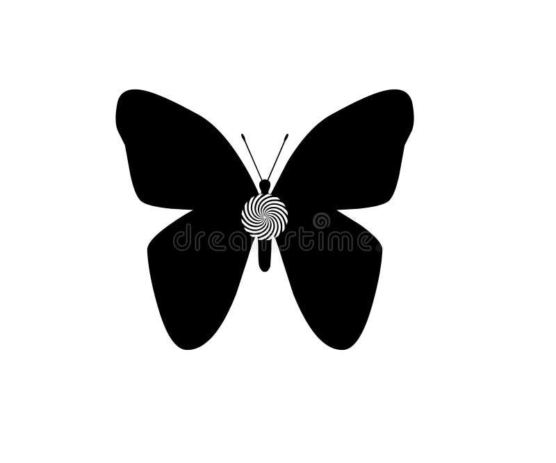 在白色背景对象元素隔绝的蝴蝶 皇族释放例证