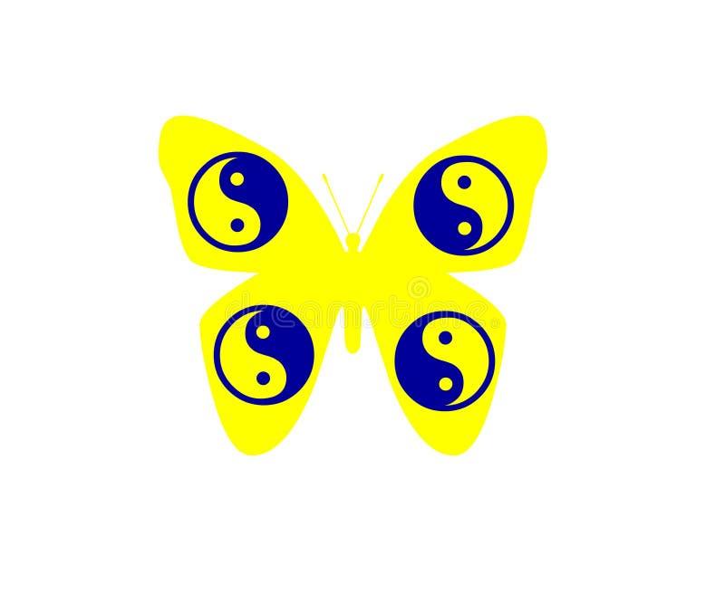 在白色背景对象元素隔绝的蝴蝶 向量例证