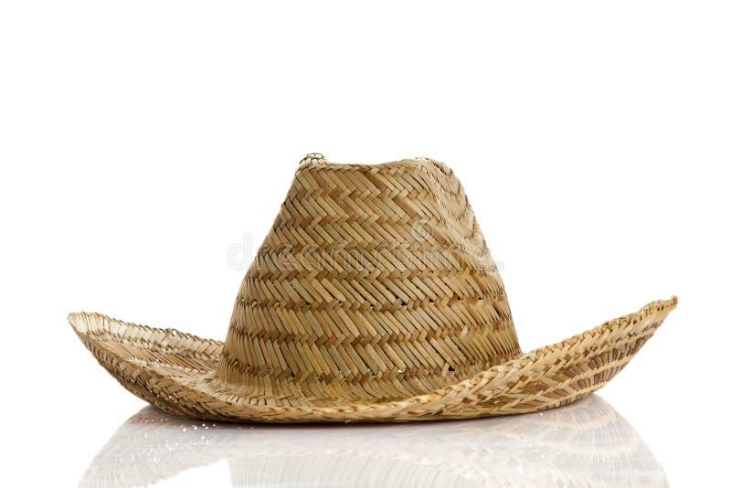在白色背景文化的墨西哥帽 库存照片
