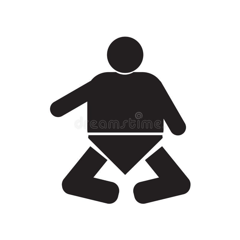 在白色背景有尿布象传染媒介标志和标志的婴孩隔绝的,有尿布商标概念的婴孩 皇族释放例证
