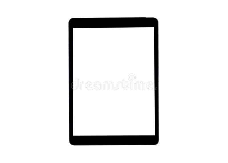 在白色背景有黑屏嘲笑的片剂计算机隔绝的 计算机图标屏幕集合片剂 片剂白色屏幕 文本的空的空间 图库摄影