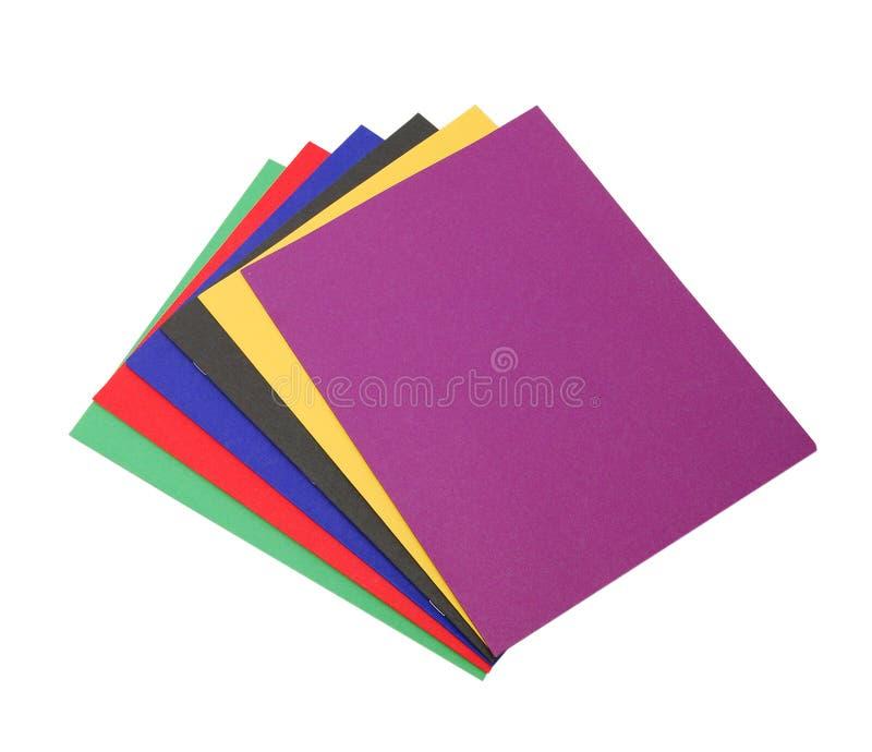 文件夹用不同的颜色 库存照片