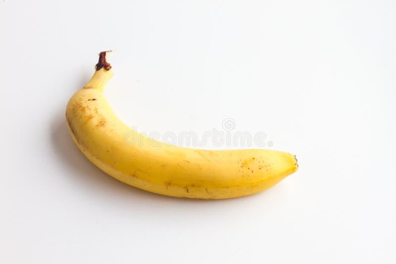 在白色背景的一个香蕉 库存图片