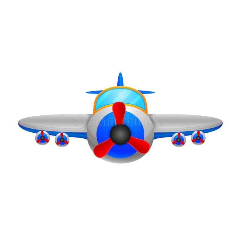 在白色背景的一架飞机 向量例证