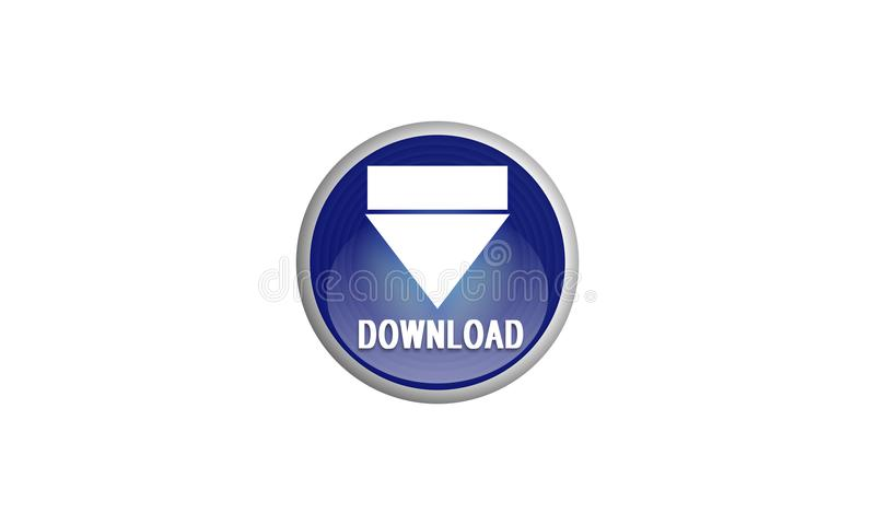 在白色背景的下载商标网的 也corel凹道例证向量 皇族释放例证