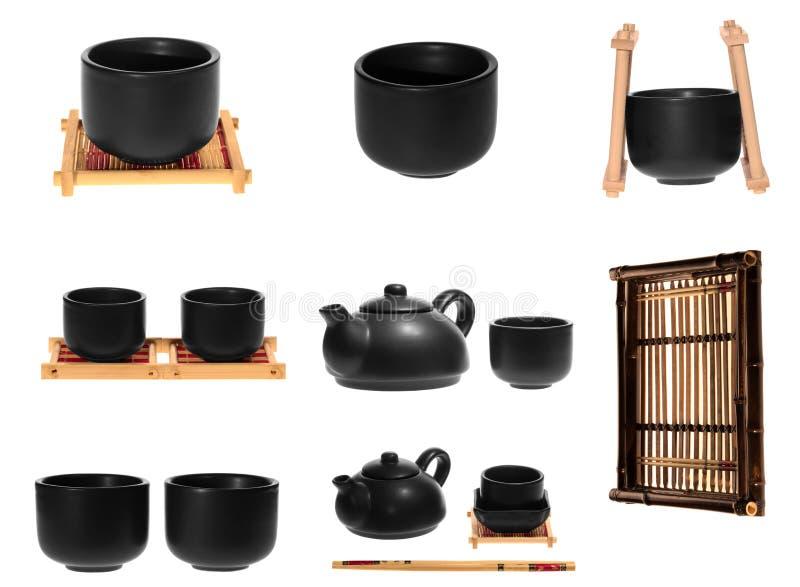 在白色背景的中国茶 免版税库存图片