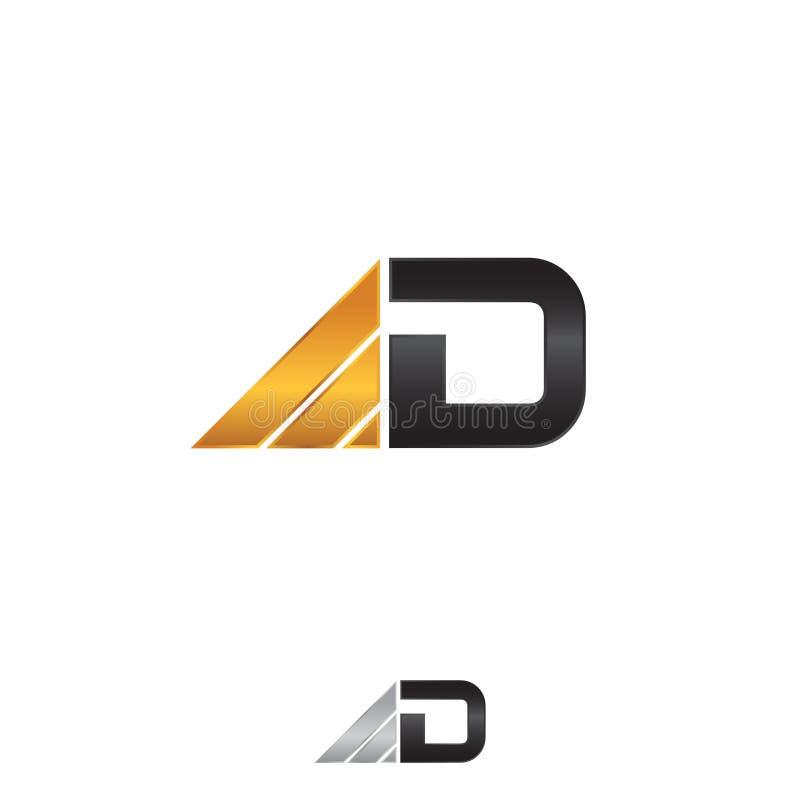 在白色背景的企业公司信件D商标设计模板 向量例证