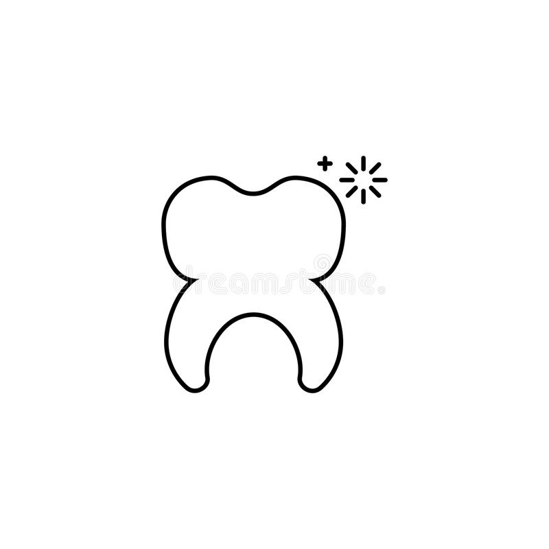 在白色背景的传染媒介健康牙 向量例证