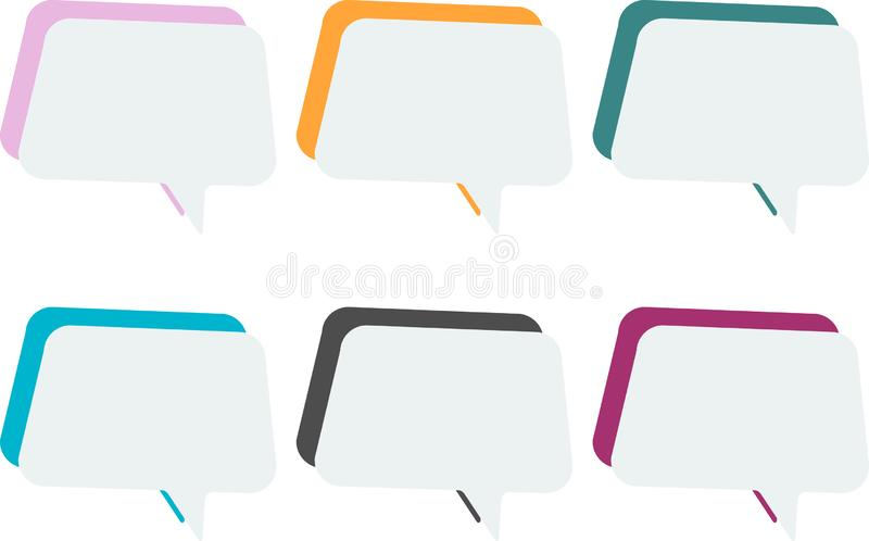 在白色背景的传染媒介淡色正文框 库存例证