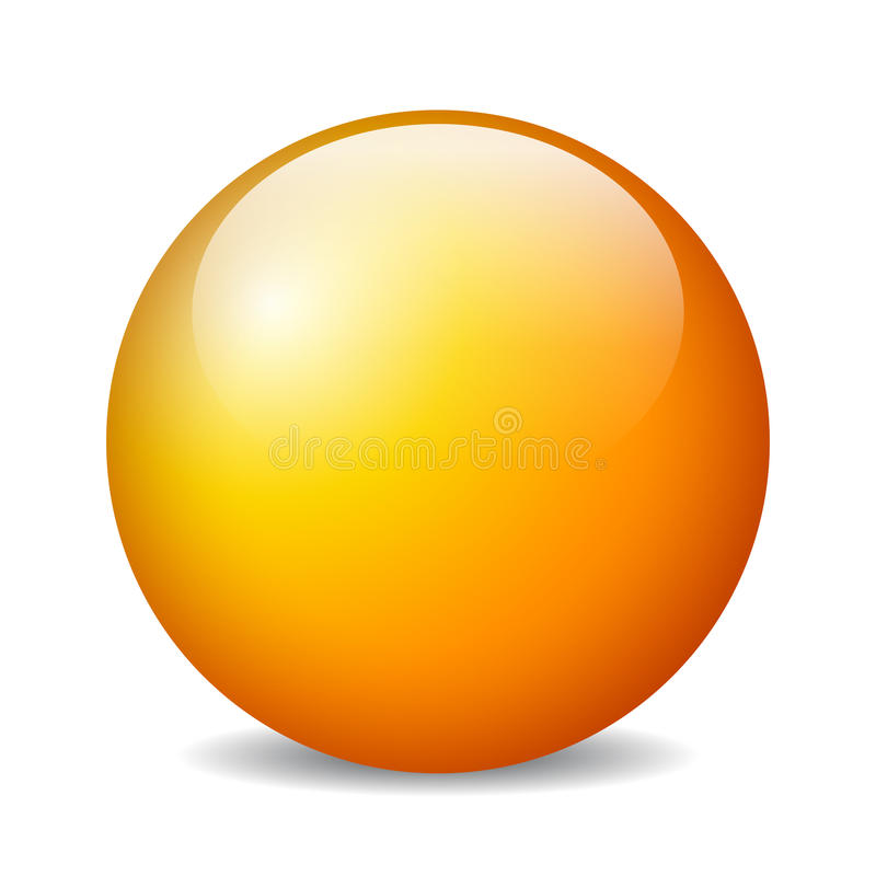 传染媒介光滑的球形 向量例证