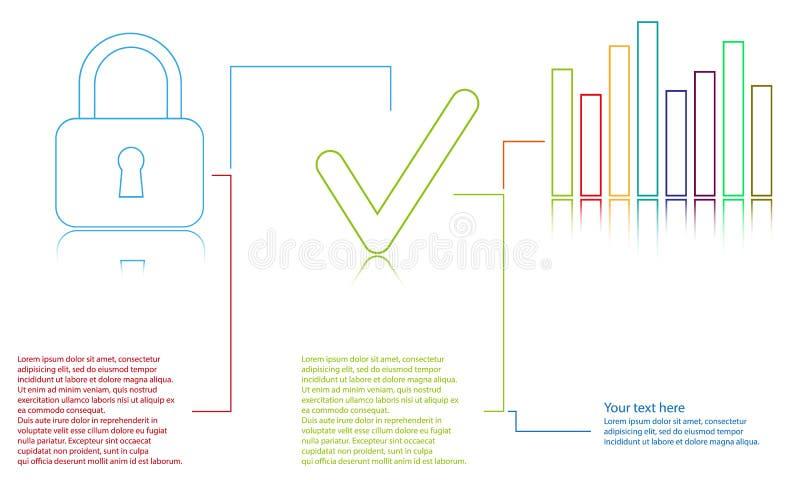 在白色背景的信息图表模板 库存例证