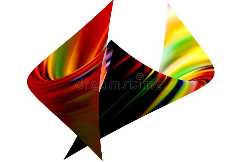 在白色背景的充满活力的多色的抽象形状 库存例证
